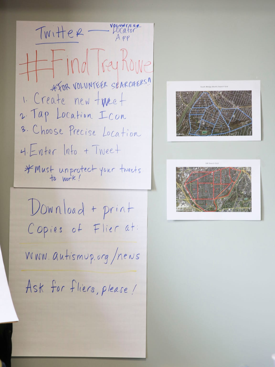 The public was encouraged to used the hashtag #FindTreyRowe
