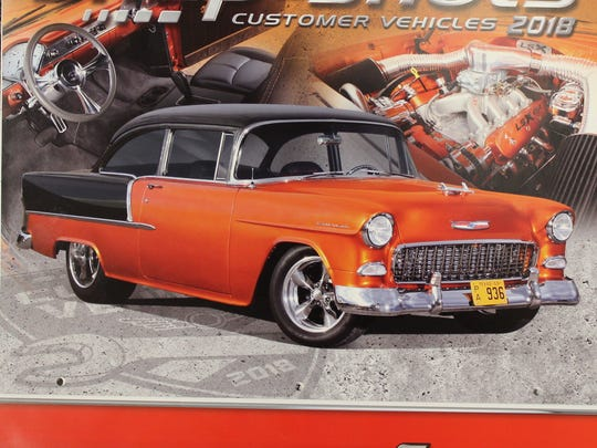 The 2018 Snap-on calendar, with Abilene 1955 Chevrolet Bel Air 210 on the cover.