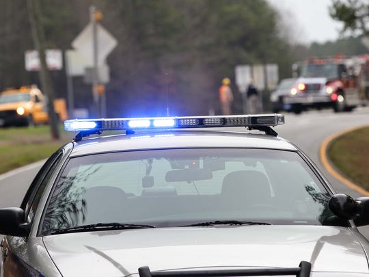 A State Trooper blocks off an area of U.S. 29 after