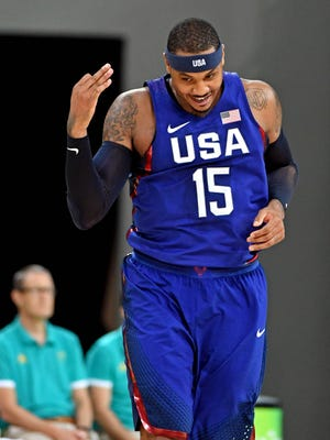 Carmelo Anthony is the new all-time Olympic scorer for the USA.