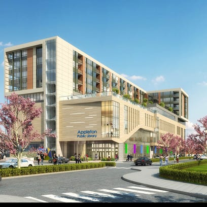 Developers have proposed a new library and housing