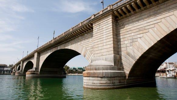 The London Bridge in Lake Havasu City is a popular