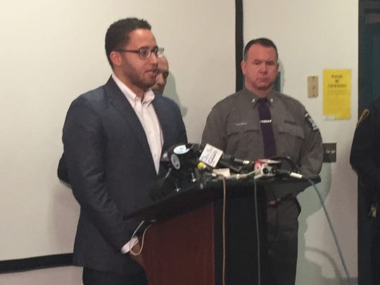 Ithaca mayor Svante Myrick credited all of the police departments who helped bring Thursday's standoff to a peaceful end.