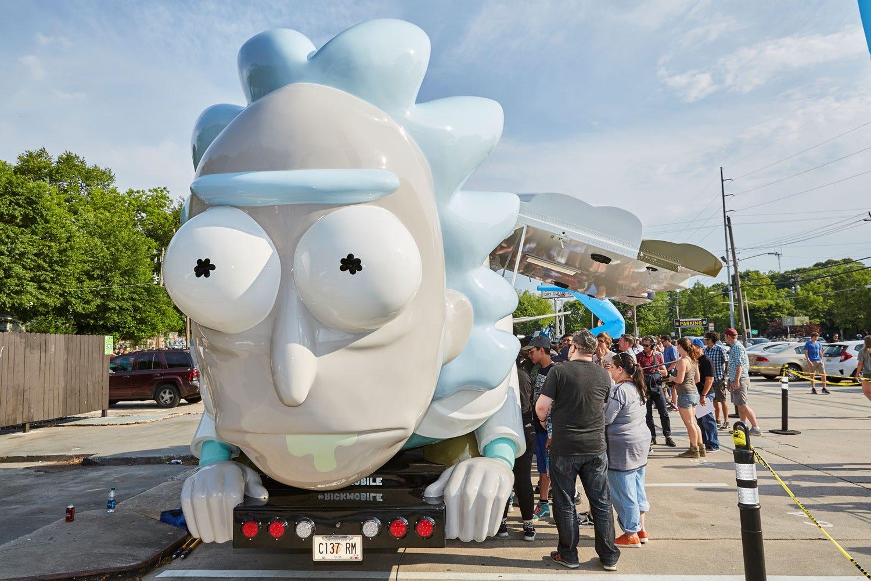 Rick and morty tour bus