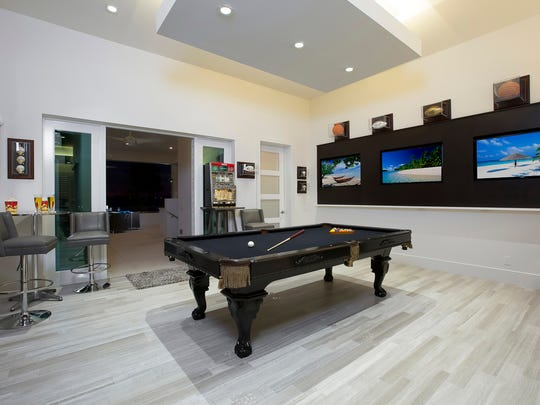 The game room in the Fry home.