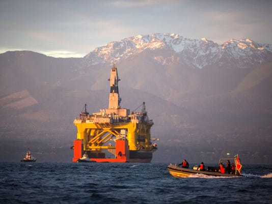 Arctic Offshore Drilling Protest