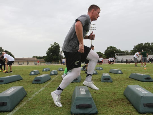 A satellite football camp for USF was held on Thursday
