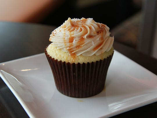 Salty Cinnamon Caramel Cupcake by Creme Cupcake.