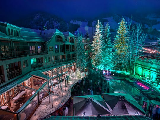 The holidays come alive at The Little Nell in Aspen, Colorado.