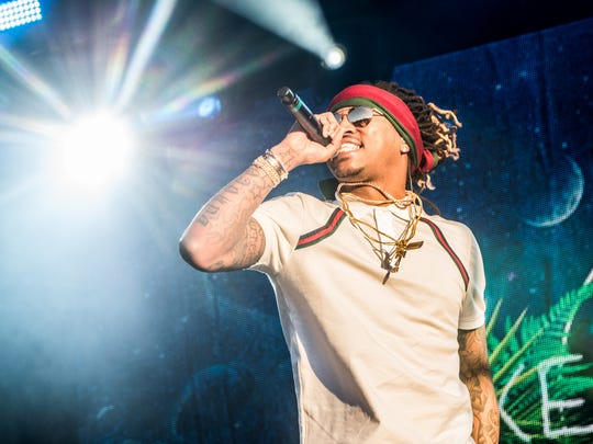 Future performs during Day 4 of the Okeechobee Music and Arts Festival on Sunday, March 6.