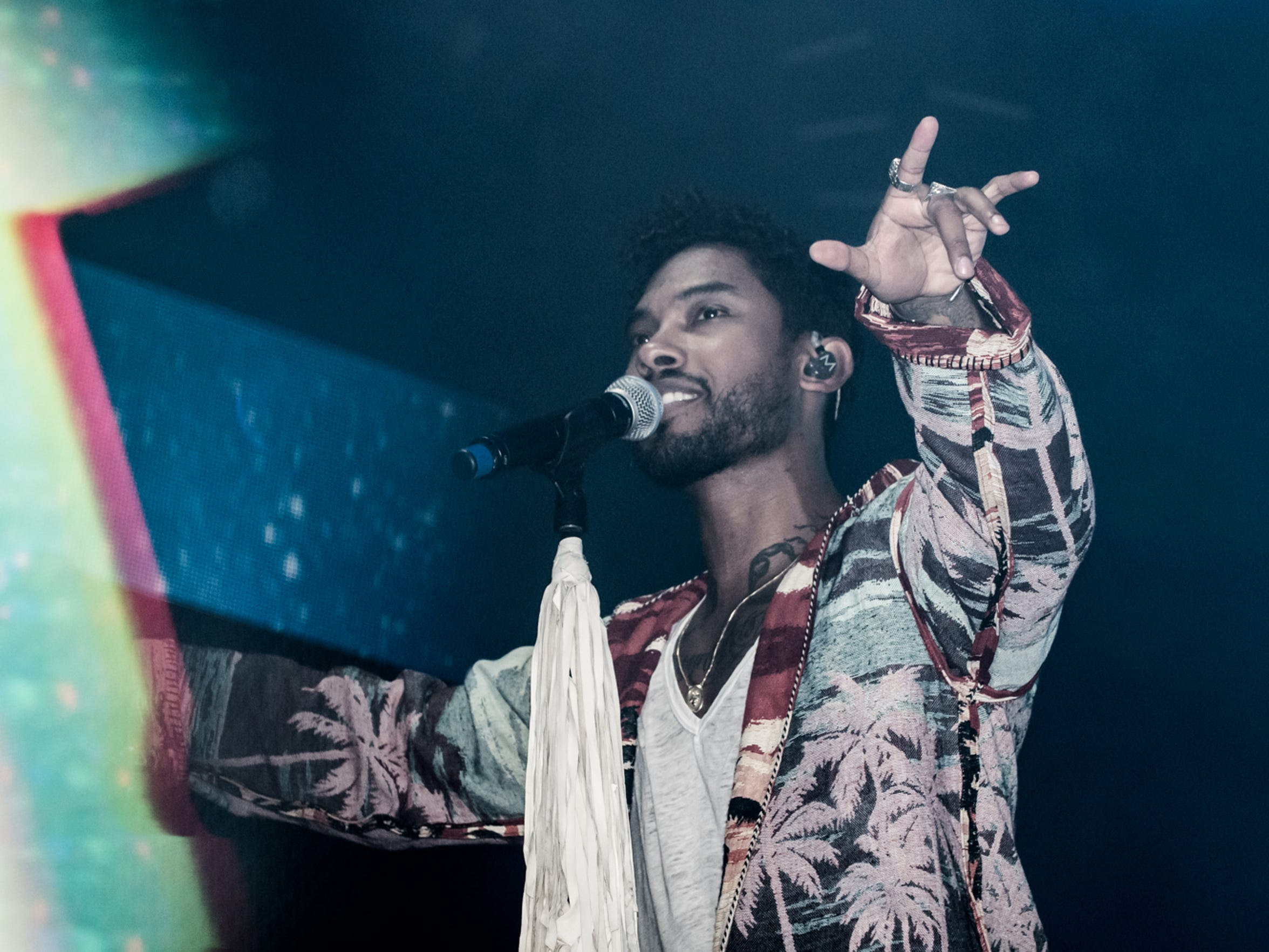 Miguel performs during Day 3 of the Okeechobee Music