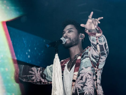 Miguel performs during Day 3 of the Okeechobee Music and Arts Festival on Saturday, March 5.