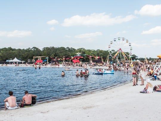 Aquachobee, the festival's beach.