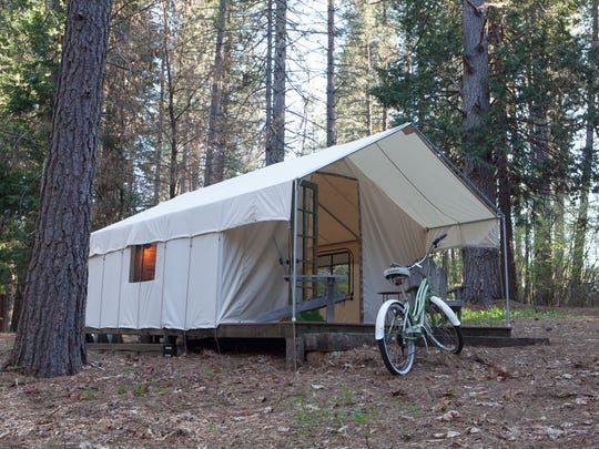 Inn Town Campground in Nevada City, Calif., is the camping experience for people who want to be in the forest without sleeping in the dirt.