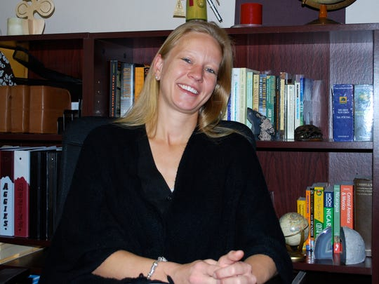 Geography professor Michaela Buenemann poses in this undated photograph.