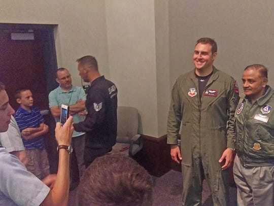 U.S. Air Force F-22 Raptor demonstration pilot DJ Foss,