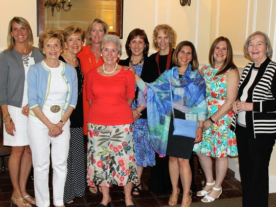 The Friends of Matheny officers and board members for 2016-17. From left: Andrea Szott of   Morristown; Dorothy Carter, Nancy Hojnacki, and Kathy Sisto (incoming president), ofl Bernardsville;  Linda Horton of Peapack; Liz Geraghty of Cranford; Doris Burman of Westfield; Edana Desatnick of Basking Ridge; Kim Caniano of Flemington; and Jean Wadsworth of Basking Ridge.