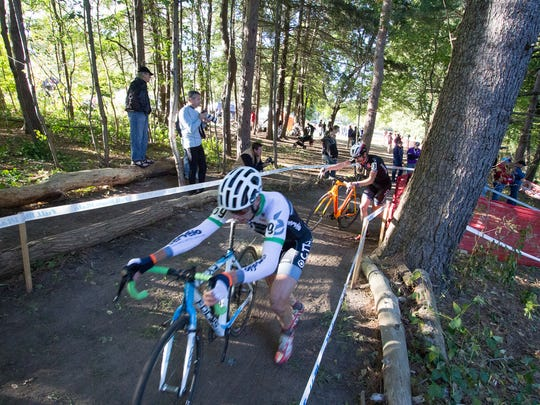 Some the Hills in Ellison Park   provided a steep challenge for cyclocross racers last year. Genesee Valley Park is the new venue.