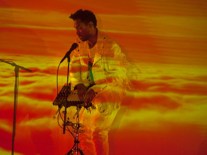 Miguel performs at Talking Stick Resort Arena on Tuesday,