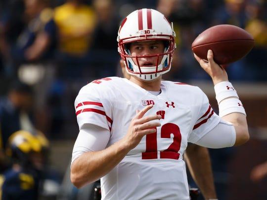 Wisconsin quarterback Alex Hornibrook.