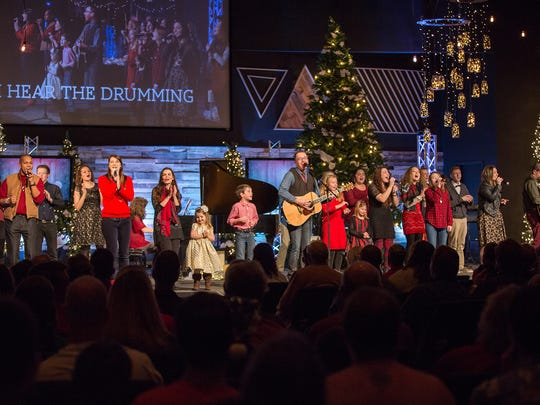 The Christmas Eve service at The Rock Church in Candler includes a blend of festive and classic Christmas tunes with spiritual music — both modern and traditional