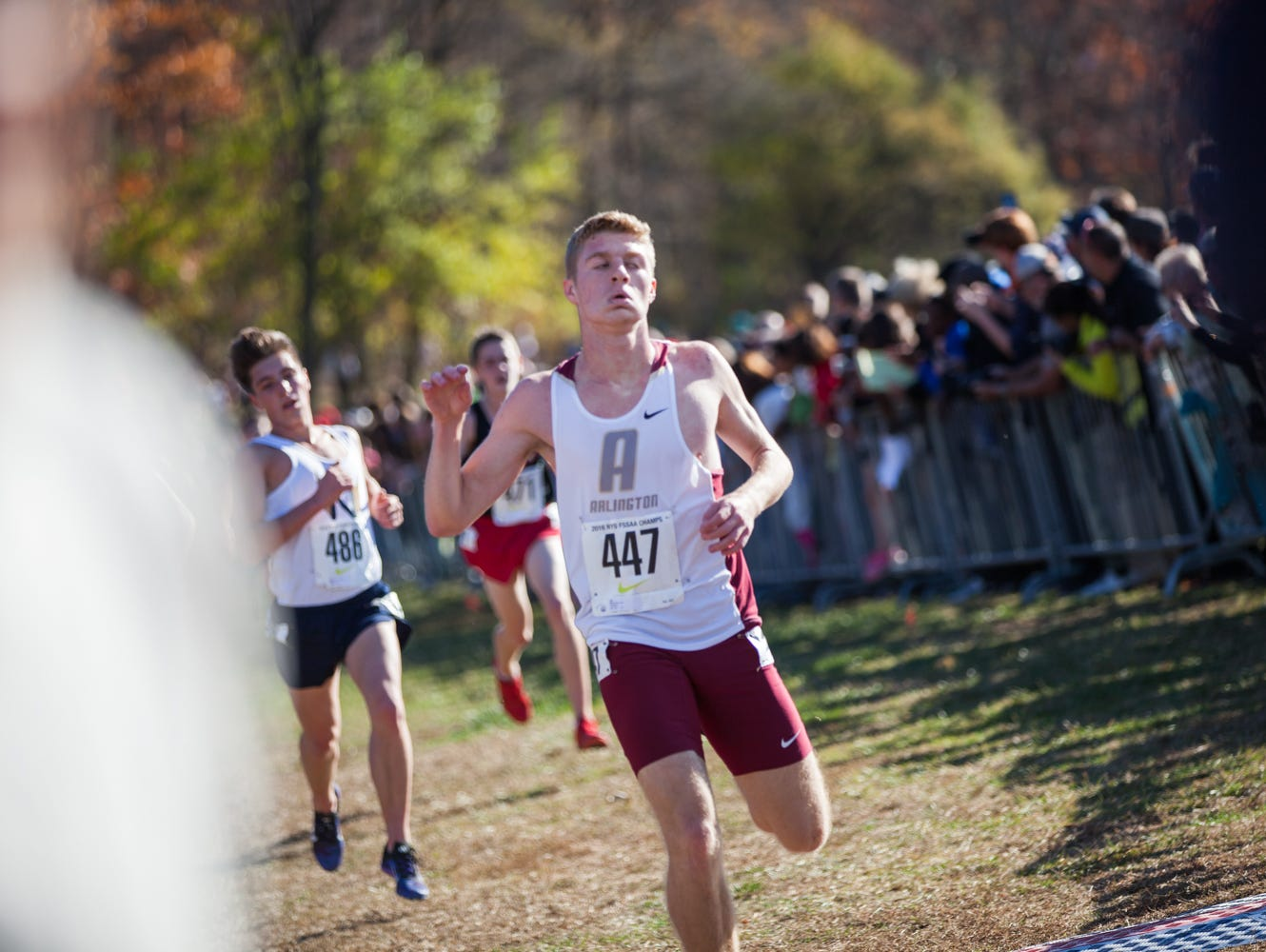 Arlington's Joe Morrison to competes in the Federation Cross Country Championships at Bowdoin Park in Wappingers on Saturday, November 19th, 2016.