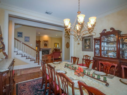 The formal dining room is perfect for large gatherings.