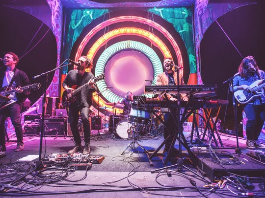 Local Natives performs at FORM Arcosanti in 2016.