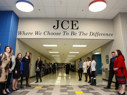 John Colemon Elementary held a ribbon-cutting and open house for its new building in Smyrna Sunday, Jan. 8, 2017.