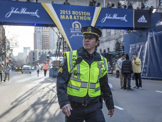 "Mark Wahlberg in ""Patriots Day."""