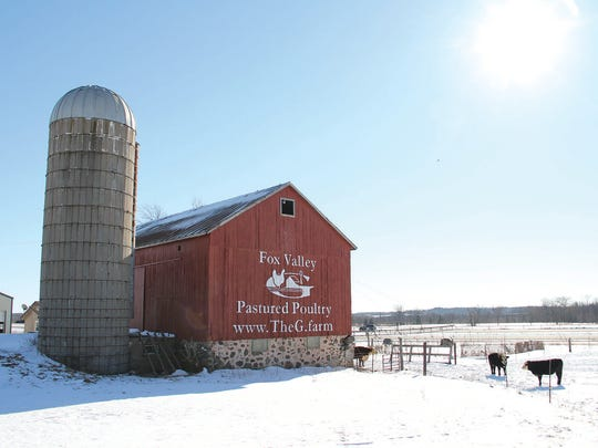 New farmer Justin Duell promotes his business on the