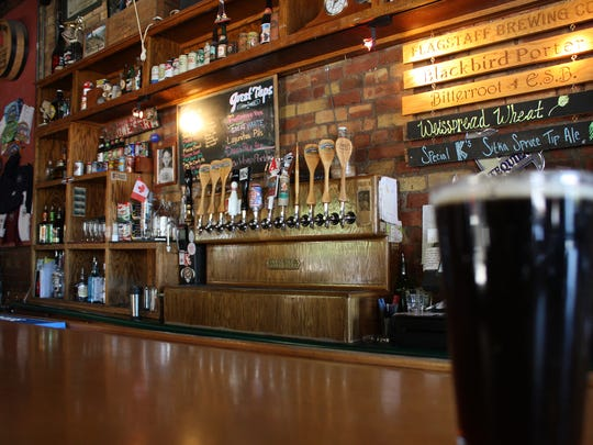 The rustic Flagstaff Brewing Company offers several guest beers on tap.
