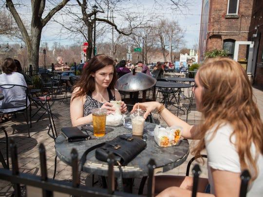 Shannon Feely, left, and Kelly Goliber of Otisville