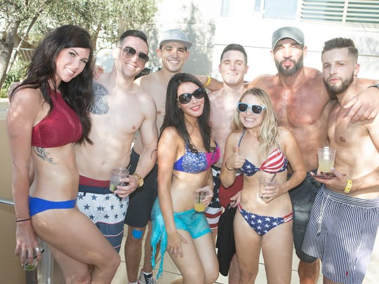 The pool was the place to be at The W Scottsdale Hotel pool party on Independence Day.