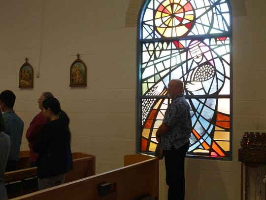 Sacred Heart Parish congregant Mike Parish has been a member of the church in Anderson since his childhood.