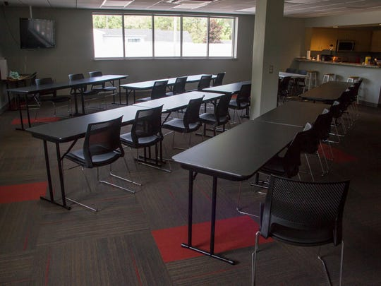 The former township offices have been converted into a meeting room and kitchen in the newly remodeled Kimball Township Fire Station.