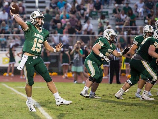 September 15, 2017 - Briarcrest's quarterback, Jackson