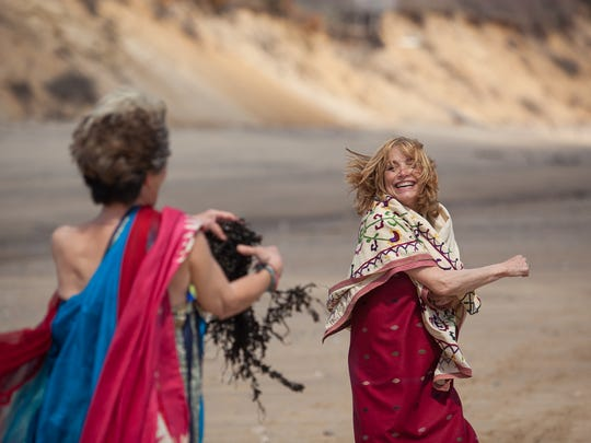 Karen Allen dances on Nauset Light Beach with Celia