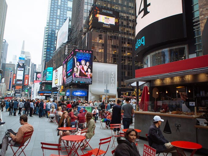 The TSQ MKT stretches five blocks down Broadway in