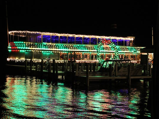 The Santa Cruise takes visitors past lights on the