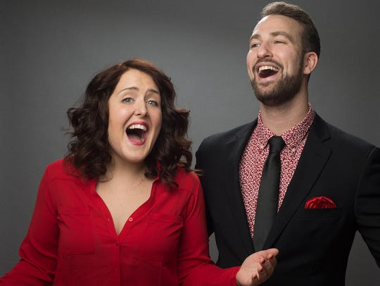 "Evan Kaufman and Rebecca Vigil of ""Your Love, Our Musical!"""