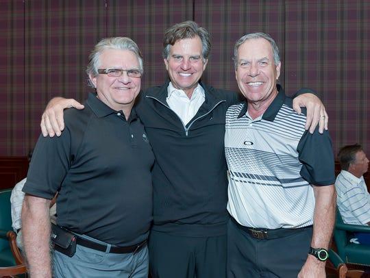 Rick Geragi, left, Chuck Geragi and Jim Colucci at