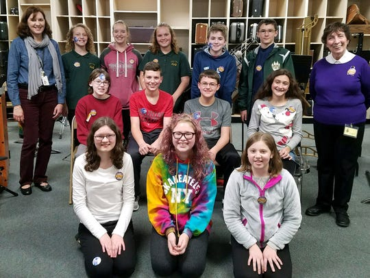 Students in Vestal Middle School's Grades 7/8 Band