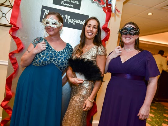 Dressed for the Masquerade Ball were, left, Tiffany