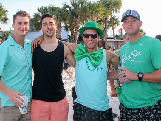 People enjoy St. Patrick's Day on Pensacola Beach on