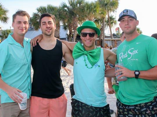 People enjoy St. Patrick's Day on Pensacola Beach on