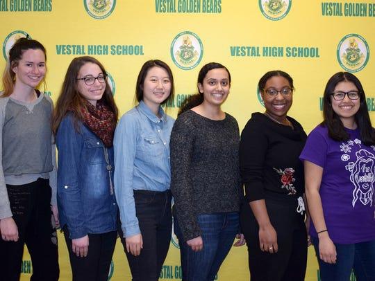 Vestal High School students Hannah Gennett, Alyssa