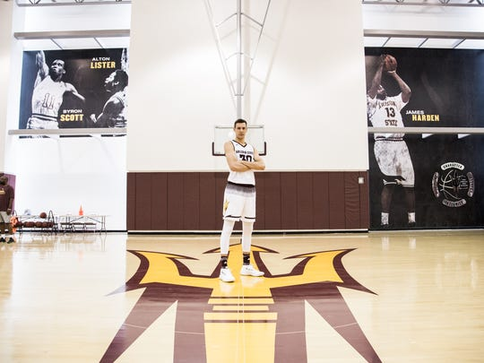 Uros Plavsic, a member of the 2018 ASU recruiting class, will wear No. 34 for ASU.