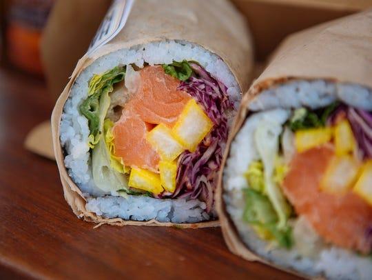 A sushi burrito from Hai Street Kitchen & Co. in Philadelphia.