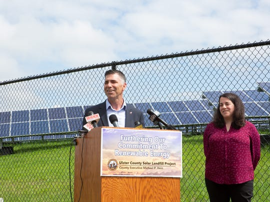 Ulster County Executive Mike Hein was recently joined by Amanda LaValle, Ulster County Department of the Environment Coordinator, environmental advocacy organizations, and members of the Ulster County Legislature to announce the launch of  the Ulster County's Utility-Scale Solar Project.